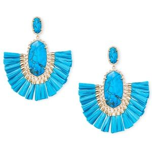 KENDRA SCOTT • Christina Raffia Fringe Earrings